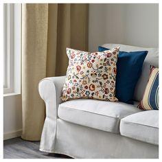 IKEA BRUNÖRT Cushion cover Multicolour 50x50 cm The zipper makes the cover easy to remove.