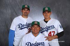Mexico/Dodgers: Adrian Gonzales, Luis Cruz and Fernando Valenzuela