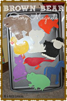 Brown Bear Story Magnet Idea (from Me & Marie Learning)