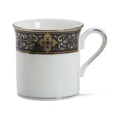 Lenox Vintage Jewel Platinum Banded Bone China Mug >>> Want additional info? Click on the image.