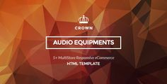 awesome Crown - Audio Equipments HTML Template (Retail)
