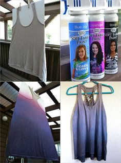 Diy Ombre with fabric spray paint (no lines like you get with dip-dying)
