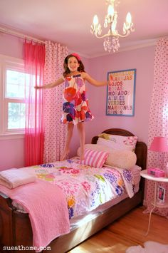 Sophia's lavender and pink girly girl room. www.sueathome.com