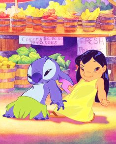 """""""Lilo & Stitch"""" The animated feature in the Walt Disney Animated Classics series Walt Disney, Disney Magic, Disney Art, Disney And Dreamworks, Disney Pixar, Disney Characters, Disney Dream, Disney Love, Lilo And Stitch 3"""