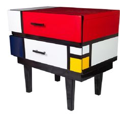 Mondrian style drawers