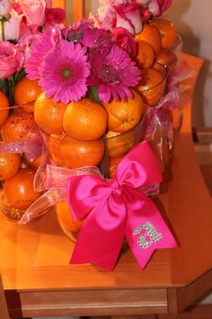 Pink and oranges :)