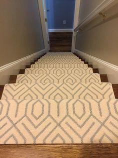 This is a Silver Creek Carpet #geometric_stair_runner