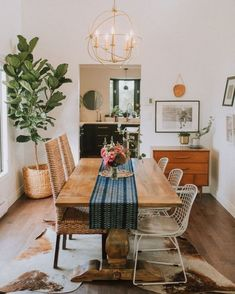 54 ideas for home decoration bohemian apartment therapy - Bohemian Home İdeas Boho Dining Room, Decor, Bohemian Dining Room, Dining Room Design, Rustic Dining Room, Dining Room Small, Home Decor, Room Design, Apartment Decor