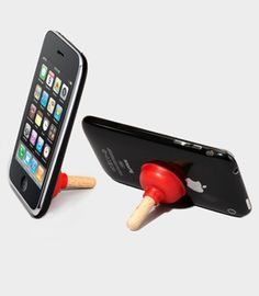 Plunger phone stand $10