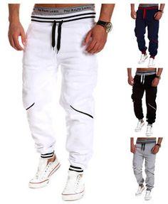 c4be33771189 Chnli 2015 New Men s Harem Casual Loose Baggy HipHop Dance Jogger Sport  Sweat Regular Rope Pants Trousers (Large