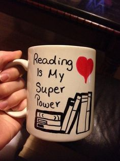 Reading is my super power mug. I need to own this!!!
