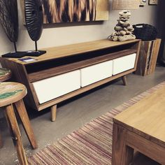 Recycled retro plasma unit with 2 pac drawers. Wow love it. Customise your colour. #ashantifurniture #goldcoast #burleigh #oldboatwood #recycled #retro #reclaimedteak #reclaimedwood #carved #credenza #chairs #customfurniture #sale #birthdaysale #designer #decoration