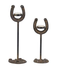 Take a look at this Horse Shoe Candleholder Set by Wilco