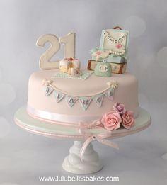 21st Travel themed birthday cake by Lulubelle's Bakes