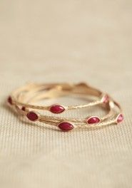 vintage rubies bangle set