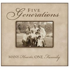 Five Generation Picture Frame 5x7 -