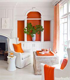 orange + white