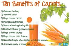10 benefits of carrots Health And Beauty Tips, Health Tips, Health Benefits,  Health