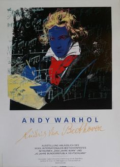 1989 Andy Warhol Portrait of Beethoven  Orginal by OutofCopenhagen