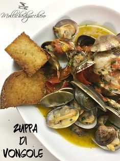 Clam Recipes, Cooking Recipes, My Favorite Food, Favorite Recipes, Good Food, Yummy Food, Antipasto, Fish And Seafood, Street Food