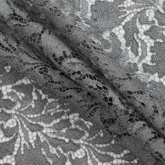 """One of the most chic and sophisticated fabrics that you will come across this season, here is a metallic gray fancy floral guipure lace. A guipure lace is a type of bobbin lace that connects the motifs with bars or plaits rather than net or mesh. The pattern presented within this material is a floral design with an almost ghostly feel which is ultimately alluring in all aspects. Laying at 52"""" in width, you can create gorgeous evening blouses, dresses and jackets when used in combination…"""