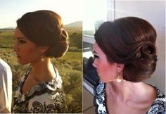 vintage wedding hair. So pretty! by melva