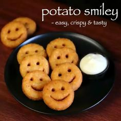 potato smiley recipe, mccain smiles, potato smiles with step by step photo/video. potato based snack of potato chips - baked or deep fried with smiley shape Indian Dessert Recipes, Indian Snacks, Indian Recipes For Kids, Evening Snacks Indian, Ethnic Recipes, Vegetarian Recipes, Snack Recipes, Cooking Recipes, Potato Recipe For Kids