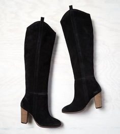 Black DV by Dolce Vita Knee High Suede Boot