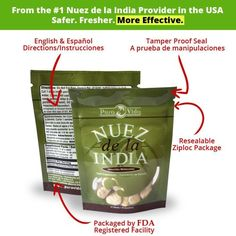 Nuez de la India (12 Seeds/Semillas)- Authentic, Pure, Safe & Imported Fresh from the Amazon - Inspected & Packaged... $10.99