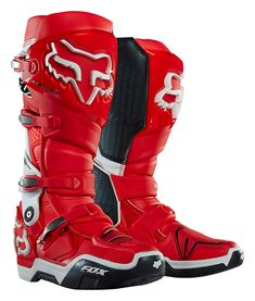 Fox MX Boots Instinct Red/White 2017
