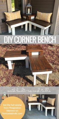 Check out the tutorial on how to make a #DIY corner bench