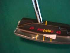 Jim Pete Stainless Model 45 Milled Black Putter