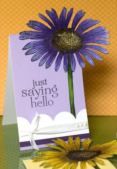 I have a large Sizzix die that is like this flower - love the look
