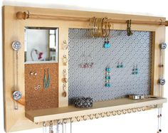 Ultimate All-in-One Jewelry Organizer  Wooden by TheWoodenCorner