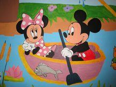 Detail of Disney wall art No2 Τοιχογραφιες παιδικων δωματιων - www.wallinart.gr Castle Mural, Mice, Murals, Minnie Mouse, Disney Characters, Fictional Characters, Wall Art, My Favorite Things, Painting