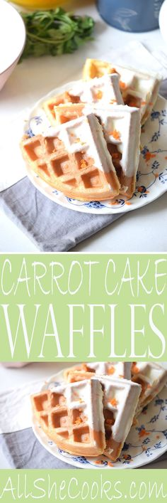 Carrot Cake Waffles Recipe Waffle Maker Carrot Cake Waffles – try this easy waffle recipe for breakfast this weekend. Quick and easy recipe. Cake Waffles, Breakfast Waffles, Breakfast Recipes, Mexican Breakfast, Pancake Recipes, Breakfast Sandwiches, Breakfast Bowls, Easy Waffle Recipe, Waffle Maker Recipes
