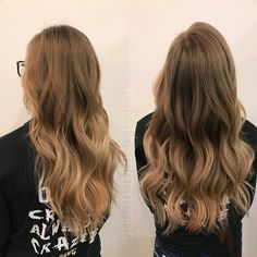 Can I say how much I'm in love with our new salon and this lighting! Oh Em Gee and look at her hair! She came in with 3 year old red on her ends and wanted to finally remove that and look natural with the help of flash lift and shades eq we made that happen!