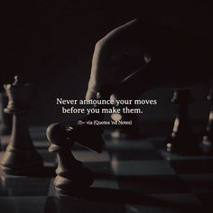 Never announce your moves before you make them. via (http://ift.tt/2omGyy6)