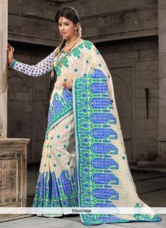 fantastic-off-white-cotton-embroidered-saree