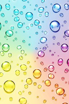 Rainbow drops on We Heart It