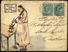 ¤ Vintage pen and ink envelope
