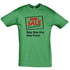 Parents for sale Buy one Get one free!  T shirt   #giftideas #birthdaygifts #humorshirts #humortees