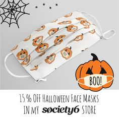The perfect accessory for the Halloween 2020 season! Wear a mask to help slow the spread of COVID-19. Halloween 2020, Halloween Face, Trunk Or Treat, Halloween Pumpkins, Face Masks, Accessories, Halloween Gourds, Facials, Jewelry Accessories