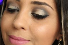 Tutorial de maquiagem para festa com dourado e preto