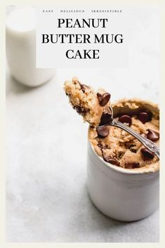 Go from zero to eating delicious cake in less than five minutes with this foolproof peanut butter mug cake recipe. No Carb Recipes, Best Dessert Recipes, No Bake Desserts, Delicious Desserts, Cake Recipes, Yummy Food, Cheap Recipes, Sweets Recipes, Baking Recipes