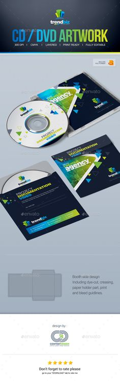 CD / DVD Artwork / DVD Case Design Template by ContestDesign This is the TrendBiz CD / DVD Artwork template creative and clean, perfect for any personal or corporate use. It鈥檚 ideal for any c