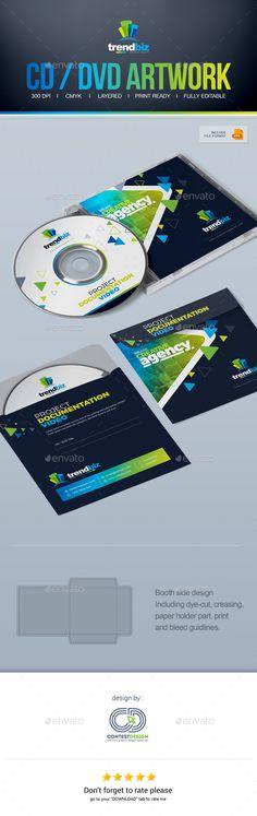 CD / DVD Artwork / DVD Case Design Template - CD & DVD Artwork Print Templates