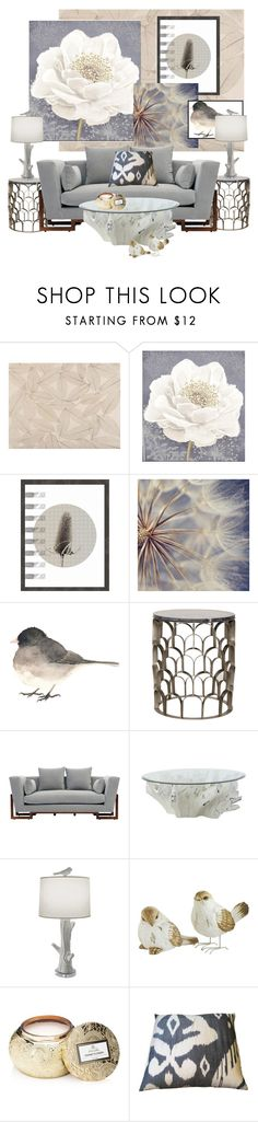 """""""Neutrals and The Gray Sofa..."""" by kimberlyd-2 ❤ liked on Polyvore featuring interior, interiors, interior design, home, home decor, interior decorating, York Wallcoverings, Graham & Brown, Noir and artless"""