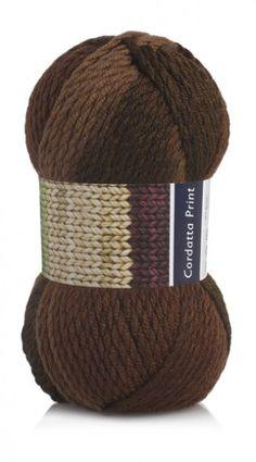 Cordatta Print: 55% Wool/Lã, 45% Acrylic/Acrílico