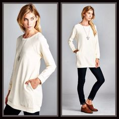 Sweatshirt Tunic Top